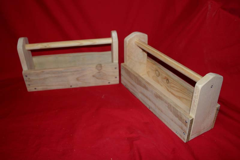Rustic storage / tool trugs, small