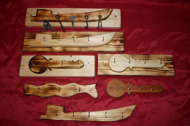 Range of key racks - canal boat, keys, wave