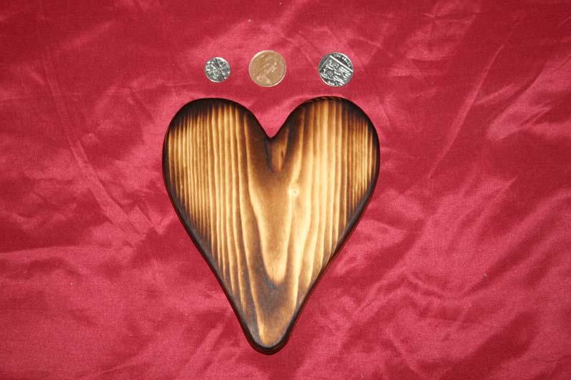 Range of key racks - heart with scorched finish