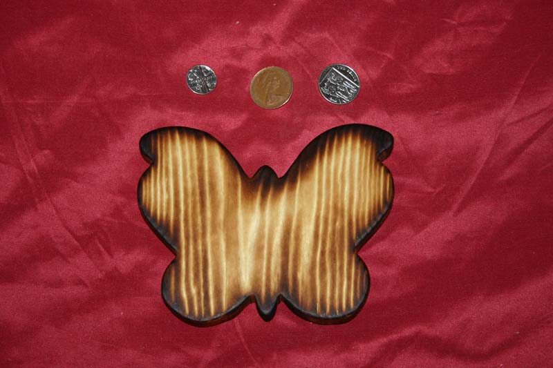 Range of key racks - butterfly with scorched finish