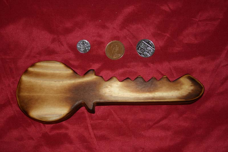 Range of key racks - key shape with scorched finish